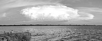 fishers and storm, pano BW